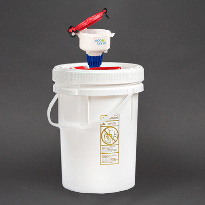 "4"" ECO Funnel System, 5 gal UN Certified Pail, Optional Secondary Container"