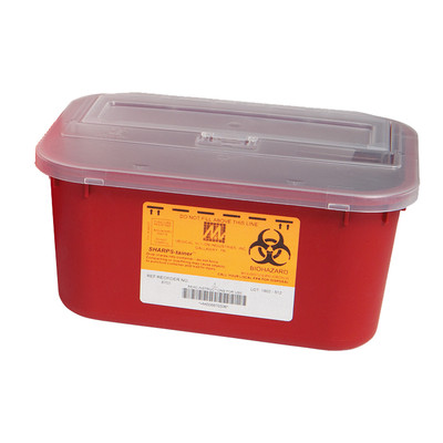 Sharps Containers, 4 Quart, Disposable, case/48