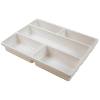 Lab Tray with Compartments, PVC, 5-Cavity, 15.9 x 12 x 2.5""