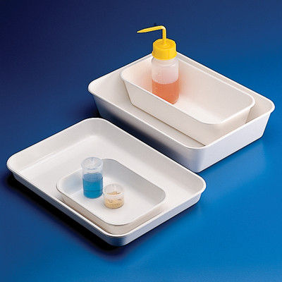 "Lab Tray, High Impact Polystyrene, 13.9"" x 10"" x 1.6"""