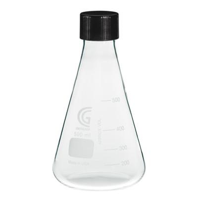 CG-1543-07 3000mL Erlenmeyer Flask, 38-430 GPI Screw Thread, Each