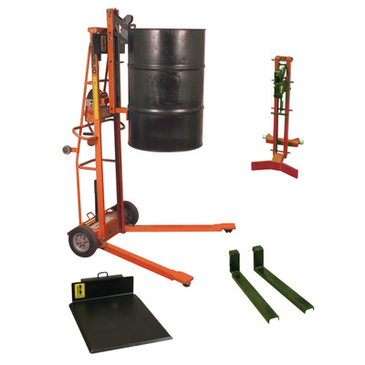 Triple Truck, TTF Base Unit with Optional Drum Handling Attachments