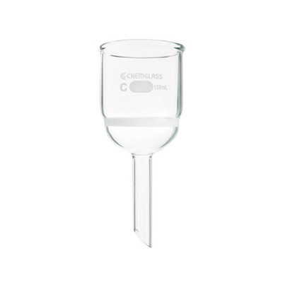 Chemglass CG-1402-34 Buchner Filtering Funnel with Coarse Frit, 3 L Capacity
