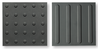 Indoor ADA Tile, 1x1, EON Detectable Warning Mat, Rubber