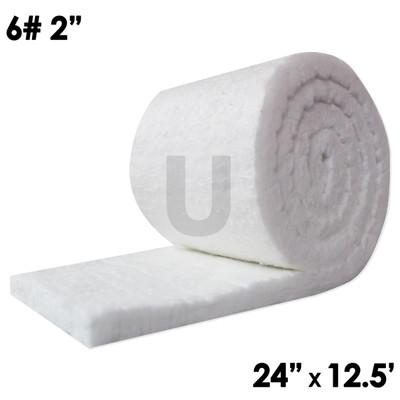 "UniTherm Ceramic Fiber Blanket, 2"" x 24"" x 12.5', 6lb"