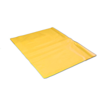 Poly liner Bags for Solid Waste Container, Yellow, case/100