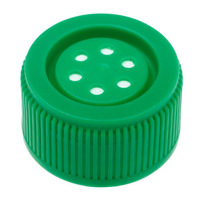 Vented, Sterile Caps for 25mL & 50mL Suspension Flasks, pack/5