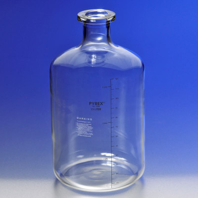 Chemglass CG-8112-13L Carboy Graduated Solution Pyrex Glass Bottles