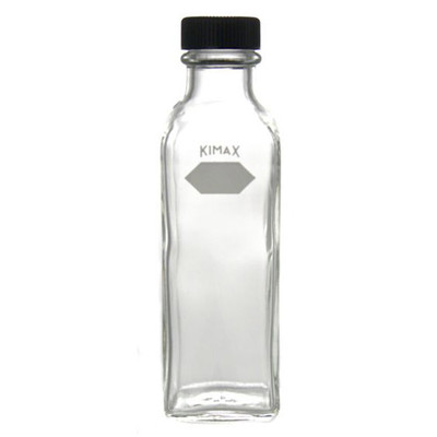 Kimble Square Ungraduated Milk Dilution Bottle