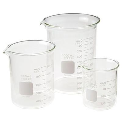 Pyrex® Griffin Beaker, 1000mL, Low Form, Graduated, case/6