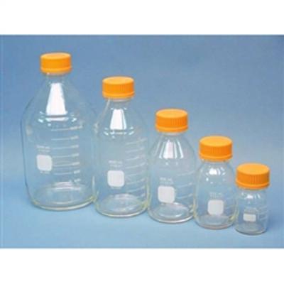Case of 10 Corning Pyrex Round Media Storage Bottles Graduated with G L45 Screw Cap 250m L
