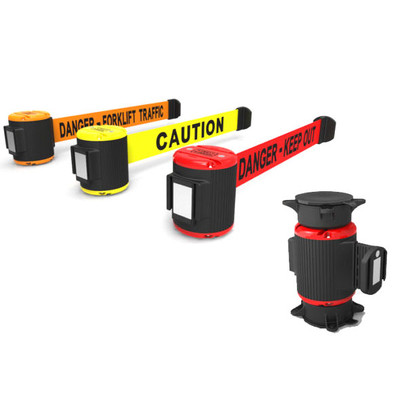 Magnetic Retractable Safety Barrier, 30' Security Tape