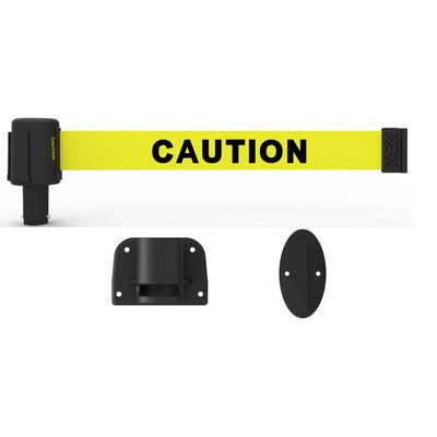 Wall Mount Quick-Release Retractable Safety Barrier, 15'