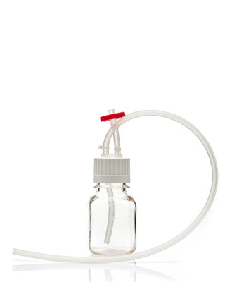 EZ-Bio Sterile Bottle Assembly, Vented Cap & Dip Tube, PC, 125mL, Case/10