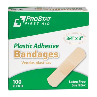 "Adhesive Bandages, Latex-Free, 3/4"" x 3"", 12 boxes of 100"