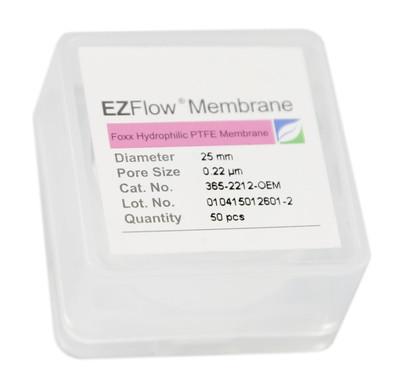 EZFlow 25mm Hydrophobic PTFE Membrane Disc Filter, 50/Pack