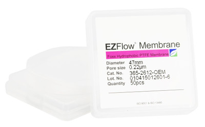 EZFlow 47mm Hydrophobic PTFE Membrane Disc Filter, 50/Pack