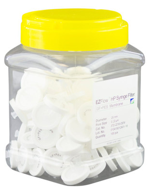 EZFlow 25mm Syringe Filter PES Glass Fiber Prefilter, 100/pack