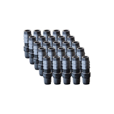 "EZwaste Replacement 1/8"" MNPT x 3/8"" HB fittings, 25/pack"
