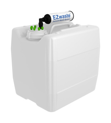 """EZwaste UN/DOT Filter Kit VersaCap S70 6 ports for 1/16"""" OD Tubing with 13.5L Container"""