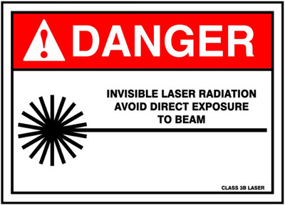 AVOID EXPOSURE TO BEAM self adhesive 10+5  DANGER INVISIBLE LASER RADIATION