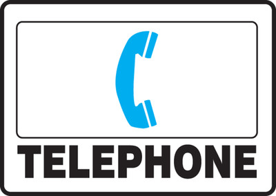 "First Aid Safety Sign: Telephone, 10"" x 14"", Pack/10"