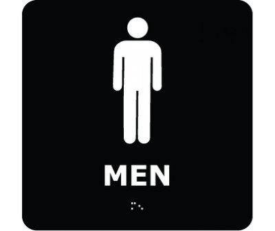 Message & Graphic Ada Braille Men Symbol Entrance Sign