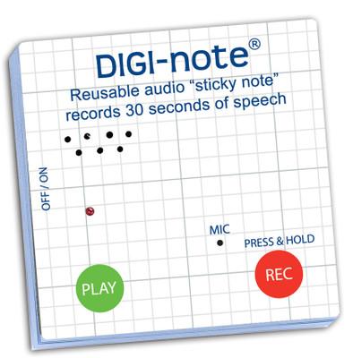 Digi-Note Gen 1, Voice Recording Memo Note Pad, Grid Design