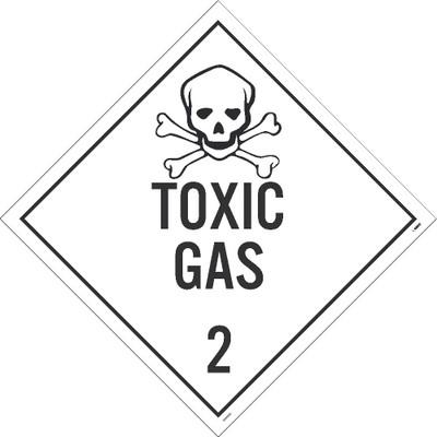 "Toxic Gas 2 Dot Placard Sign Adhesive Backed Vinyl, 10.75"" X 10.75"""