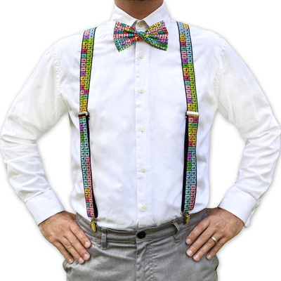 Suspenders and Bow Tie or Necktie set