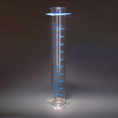 Graduated Cylinders, Double Scale, Class A, Individually Certified, 1000mL, Each