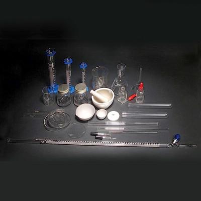 Lab Equipment Starter Kit, 57 piece Glass and Porcelain Assortment