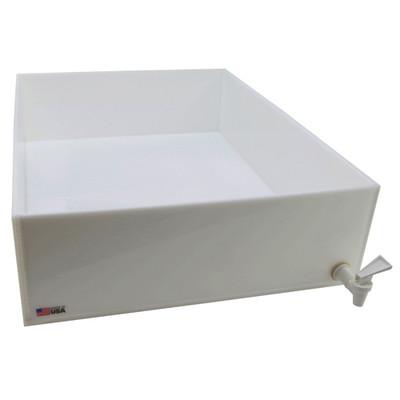 "Dispensing Lab Tray with Spigot, HDPE, 42 Liter, 18 x 24 x 6"""