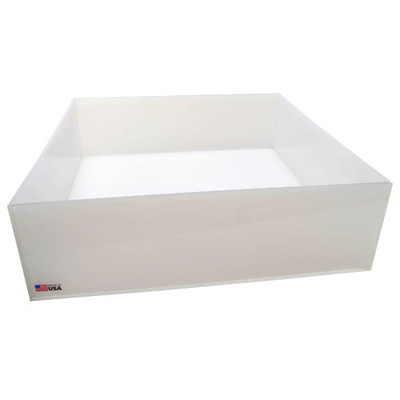 Rectangular Lab Tray, 17 Liter, HDPE, 15 x 17 x 4''