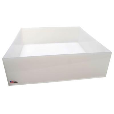 Rectangular Lab Tray, 17 Liter, HDPE, 15 x 17 x 4''