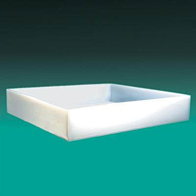 """Rectangular Lab Tray, 46 Liter, HDPE, 23.25"""" x 29.25"""" x 3.75''"""