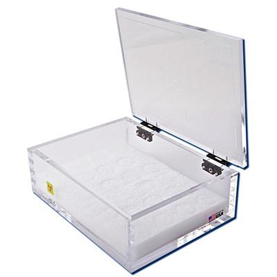 """Beta Emitter Storage Box with Foam Rack, 3 """" x 11 """" x 8"""""""