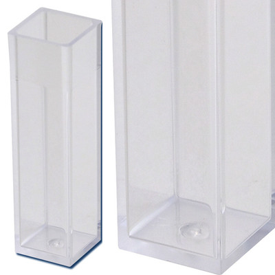 Macro Cuvette VIS, 4.5mL Clear, 4 Sided, Polystyrene, 340nm to 750nm, case/500