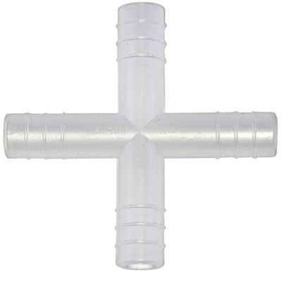 Connector, Polypropylene, 4-Way, 14 mm, pack/100