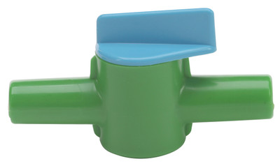 14mm Miniature Stopcock for Low Vacuum liquid or gas, HDPE, case/10
