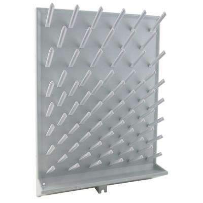 "Glassware Drying Rack, 72 pegs, 18x25"""