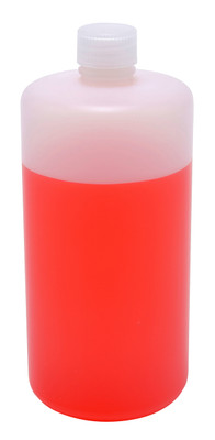 Lab Bottles, HDPE, Narrow Mouth, 32oz, bulk packaged, case/55