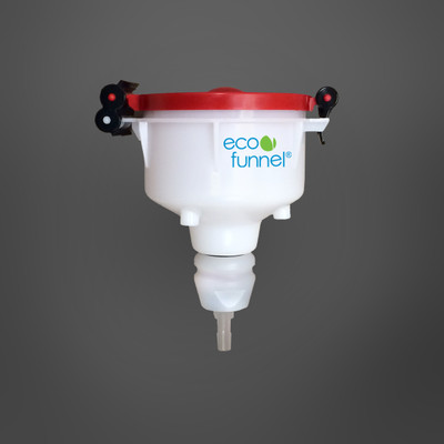 "4"" ECO Funnel® with Barb Adapter for 3/8"" ID Tubing"