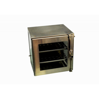 Desiccator, small standard stainless steel shelves, square holes