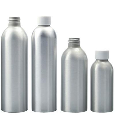 8 oz Aluminum Bullet Bottles, 24-410 White PP Foam Lined Caps, case/20