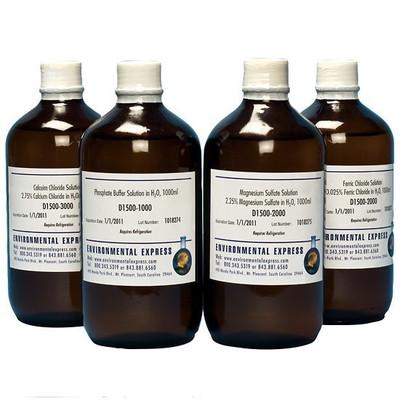 BOD: 4-Bottles Set, P/Mg/Ca/Fe Solutions, 1L bottles