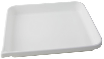 """Lab Tray, Rounded Edge with Pour Spout, HDPE, 17 x 14 x 2"""""""