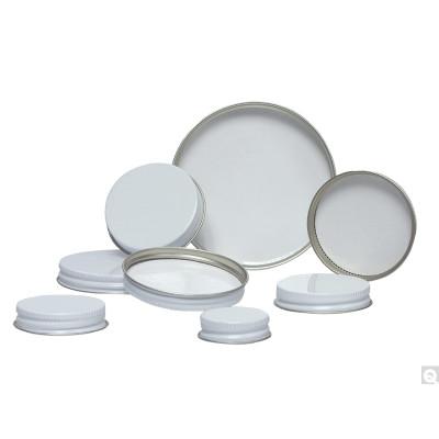 53-400 White Metal Cap, Pulp/PE Liner, Packed in bags of 12, case/288