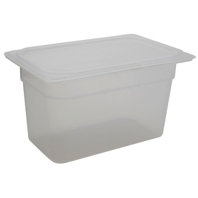 Cambro Storage Containers, Translucent PP with Lid, 3.9 Qt, case/6