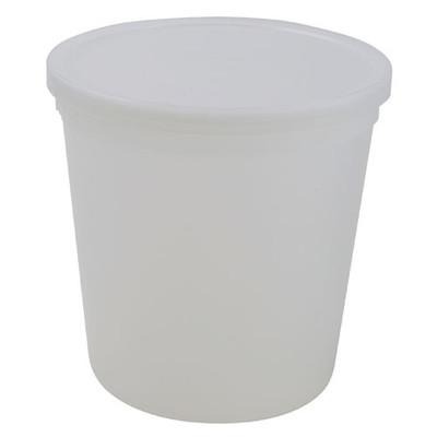 Disposable Specimen Containers with Lid, Transparent, 83oz, case/25